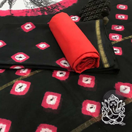 Hand Block Print Unstitched Chanderi Salwar Suits